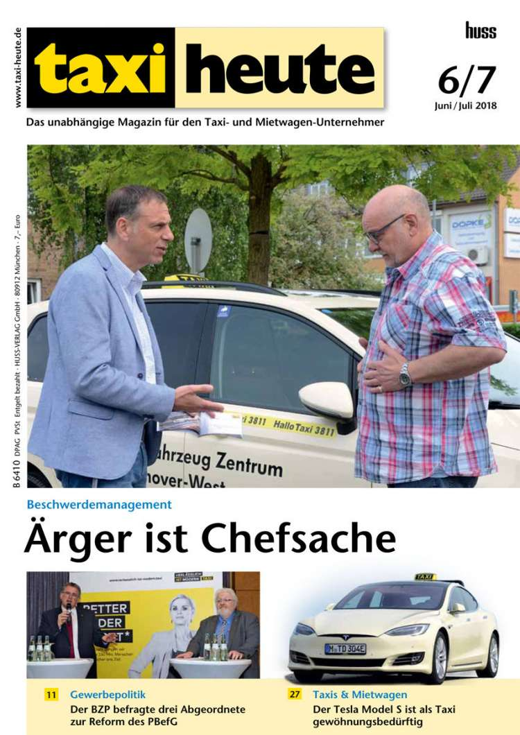 taxi heute junjul 2018 - Taxi Und Mietwagen Prufung Muster