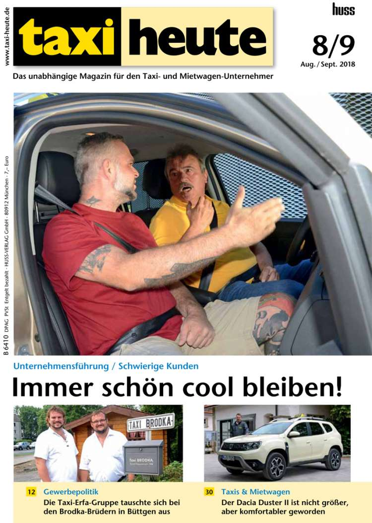 taxi heute augsep 2018 - Taxi Und Mietwagen Prufung Muster