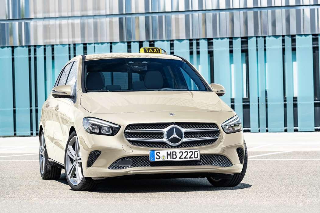 Anders als etwa INTAX gibt es beim Mercedes-Benz Vertrieb Deutschland fast keine Pressefotos vom Innenraum der Taxis. (Foto: Daimler AG)