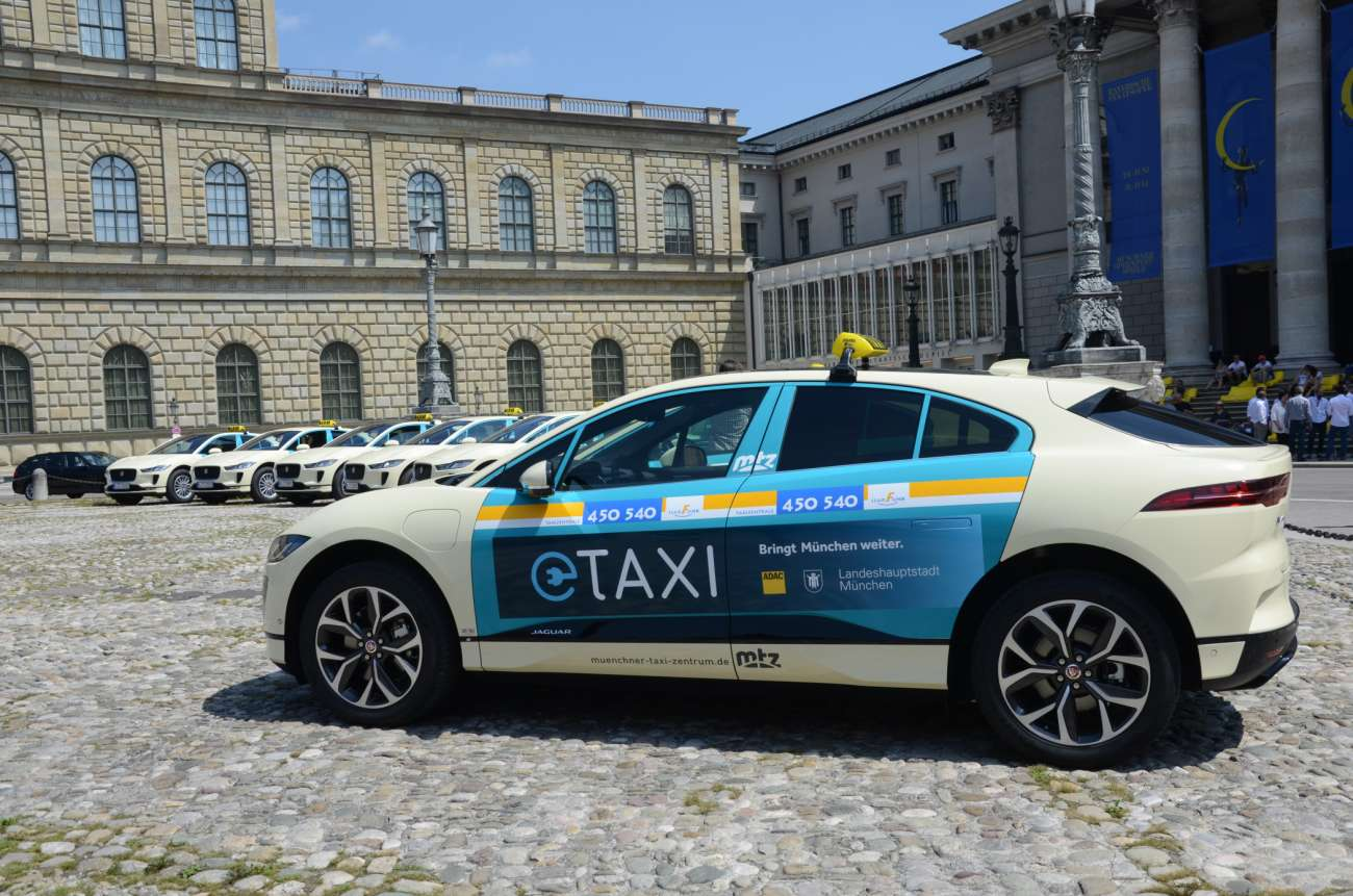 In Munich You Can Now Drive With Jaguar S Ten Electric Taxis